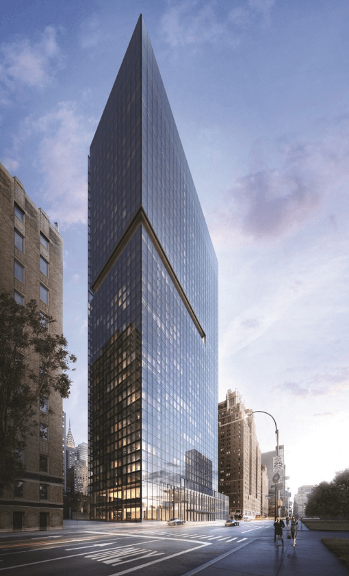 Integro is the curtain wall contractor for the distinctive 44-fl oor residential tower at 685 First Avenue in NYC for respected developer, Solow Building Company.