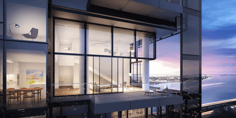 685 First Ave balcony render