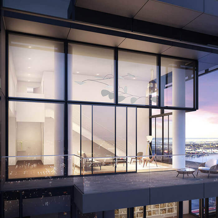 Rendering of Balcony of 685 First Avenue